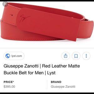 Men Giuseppe Zanotti Belt 100%Authentic orig. $395